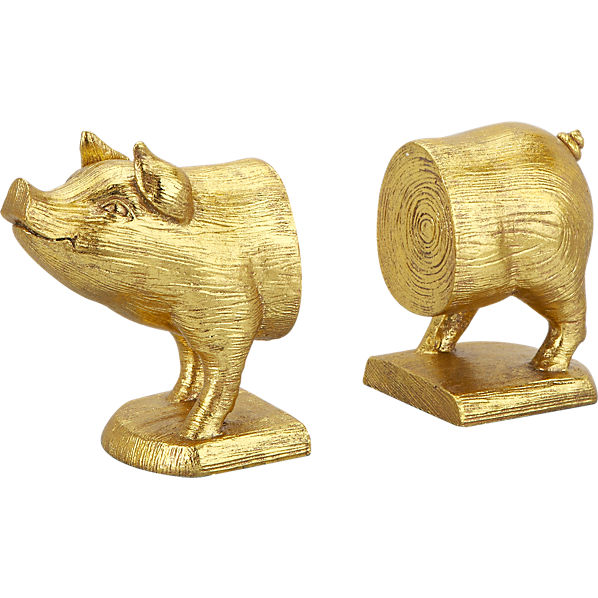 pig book ends