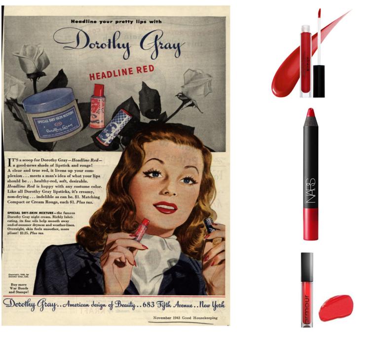 1940sweddingmakeupredlips