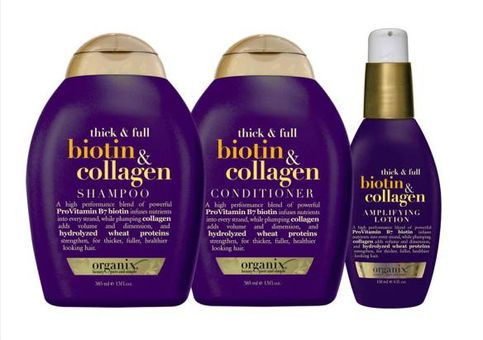 Organix Thick and Full Biotin and Collagen Shampoo, Conditoner and Serum Review